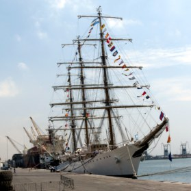 This is the Argentinian navy ship that was held captive in the Tema port by Ghanaian officials over an unpaid bond dispute.