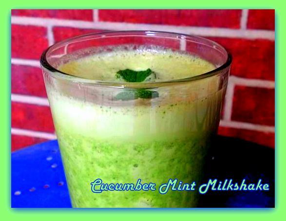 Cucumber Mint Milkshake